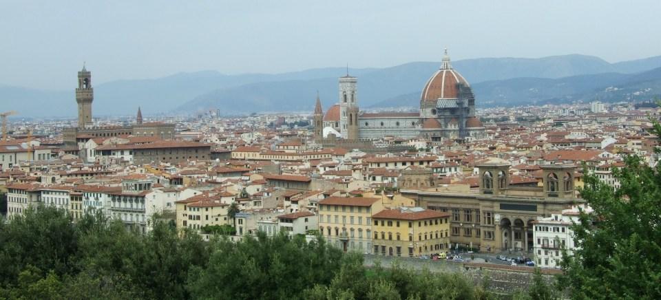 Vista panorámica de Florencia (Italia).